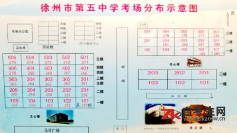 2020年8月徐州市自考考场分布图