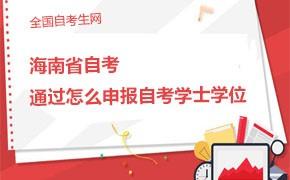 海南省自考考试都过了怎么申报自考学士学位?