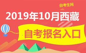 2019年10月西藏自考报名入口