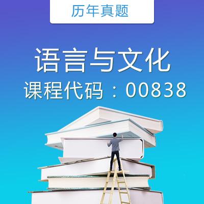 00838语言与文化历年真题