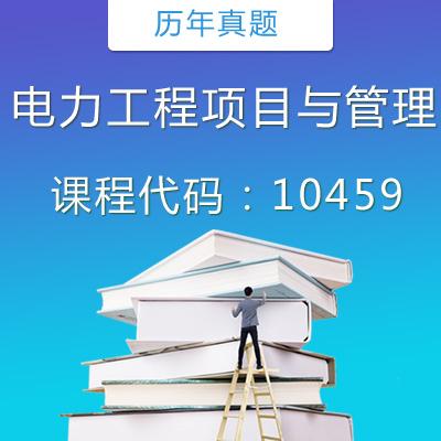 10459 电力工程项目与管理历年真题
