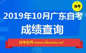 广东10月自考成绩什么时候出来