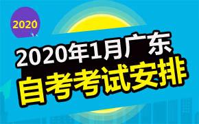 2020年1月广东自考考试安排及时间汇总