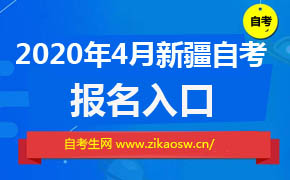 2020年4月新疆自考报名入口