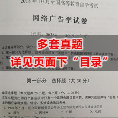 06384网络广告学历年真题