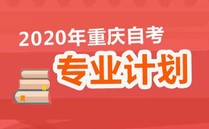 2020年重庆自考专业计划汇总