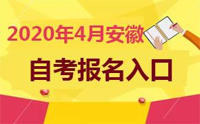 2020年4月安徽自考报名入口