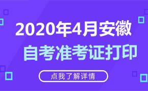 2020年4月安徽自考准考证打印时间