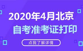 2020年4月北京自考准考证打印
