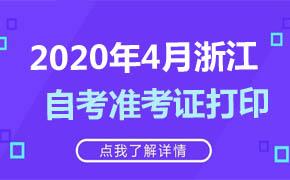 2020年4月浙江自考准考证打印