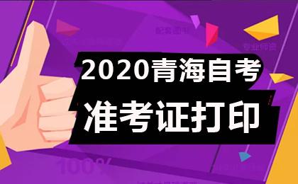 2020年4月青海自考准考证打印时间