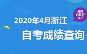 2020年4月浙江自考成绩查询