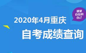2020年4月重庆自考成绩查询
