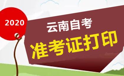 2020年上半年云南自考准考证打印系统入口