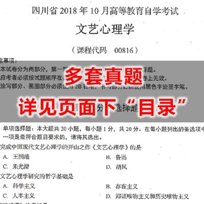 00816文艺心理学历年真题