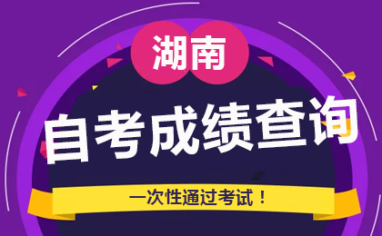 2020年8月湖南自考成绩查询时间