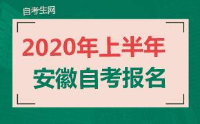 2020年上半年安徽省自考有关考务工作安排通知