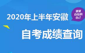 2020年上半年安徽自考成绩查询时间及入口