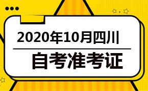 2020年10月四川自考准考证打印时间及入口