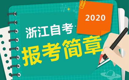 浙江教育考试院发布:2020年10月浙江自考报考简章