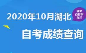 2020年10月湖北自考成绩查询时间及入口