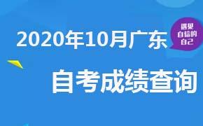 2020年10月广东自考成绩查询时间及入口