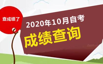 2020年10月自考成绩查询