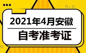 2021年4月安徽自考准考证打印