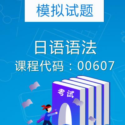 00607日语语法模拟试题